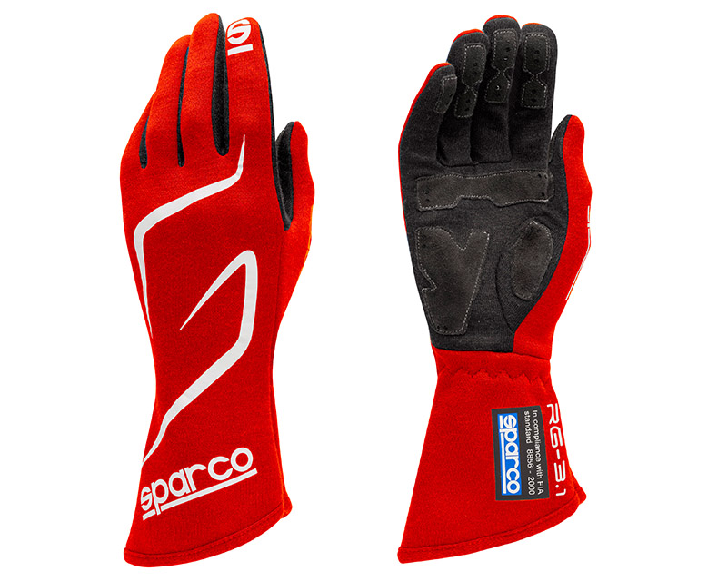 Sparco Land RG-3.1 Red Racing Gloves | LG - 00130811RS