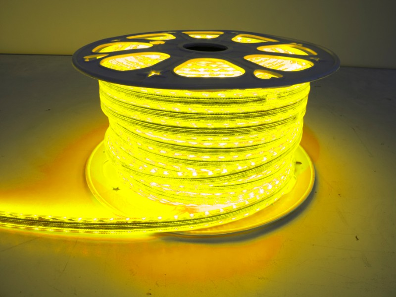 Race Sport Lighting Yellow 5050 164-foot Weatherproof Pier Light Strip 110 Volt - MS-5050-164FT-Y