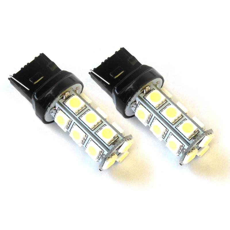Race Sport Lighting Red 7440 5050 LED 18 Chip Bulbs Pair - RS-7440-R-5050