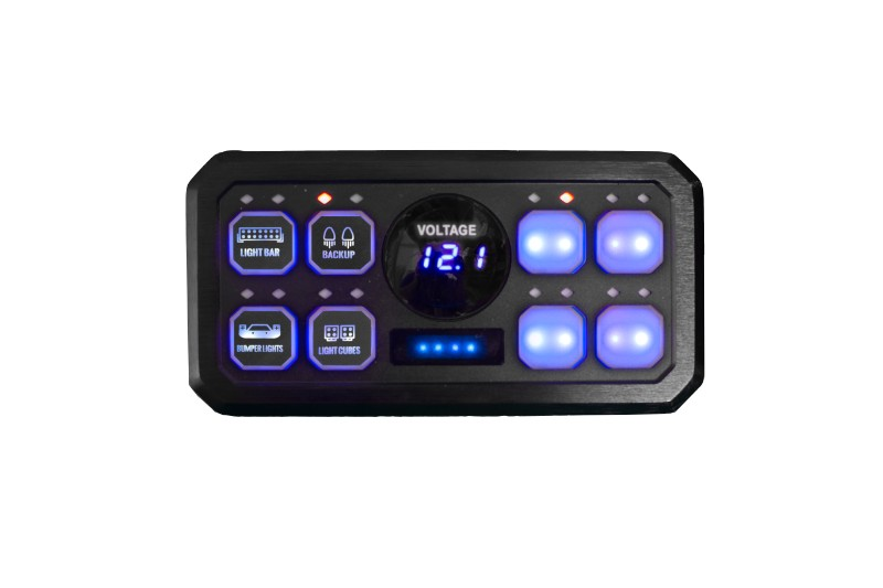 Race Sport Lighting 8-Button Auxiliary Light Universal Switch Panel with SLIM Touch control Box - RS8BASP