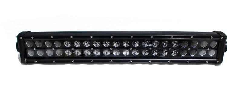 Race Sport Lighting Combo-Flood/Beam Straight Hi-Performance Light Bar Blacked Out Series Straight, Double Row, Silver 20 Inch 120 Watts - RSBO120