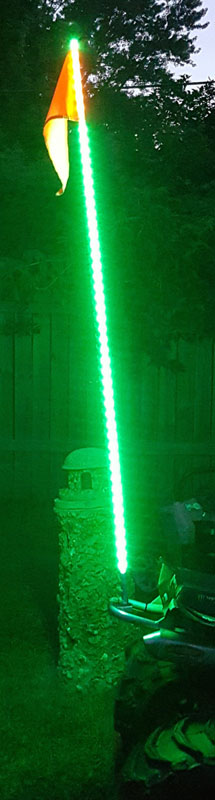 Race Sport Lighting Green 6-foot 5050 SMD LED ATV-Jeep Flag Pole Whip - RSQG6FTG