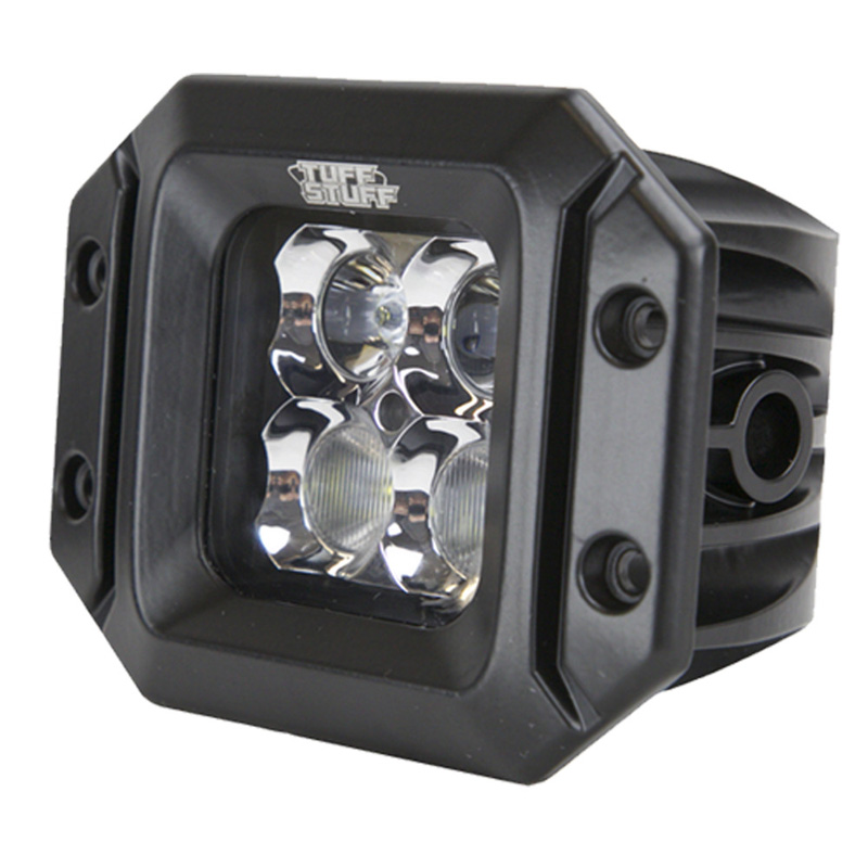 LED Light Pod 2 x 2 Inch Flood/Spot Beam Flush Mount Back-Up Light 20 Watt 1,860 Lumens Clear Lens Each Tuff Stuff Overland - TS-LED-2X2-FM-FBSB-20