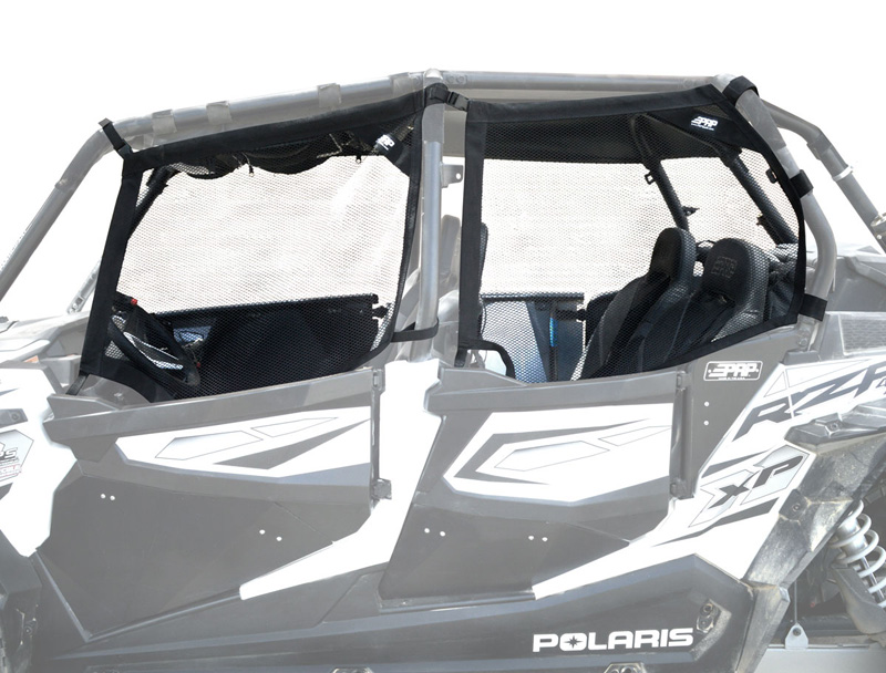 Mesh Window Nets for Polaris RZR4 1000 PRP Seats - W19