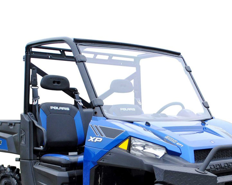 SuperATV Full Windshield Standard Polycarbonate Clear Polaris Ranger XP 900 | Polaris Ranger XP 570 - WS-P-RAN-001-75