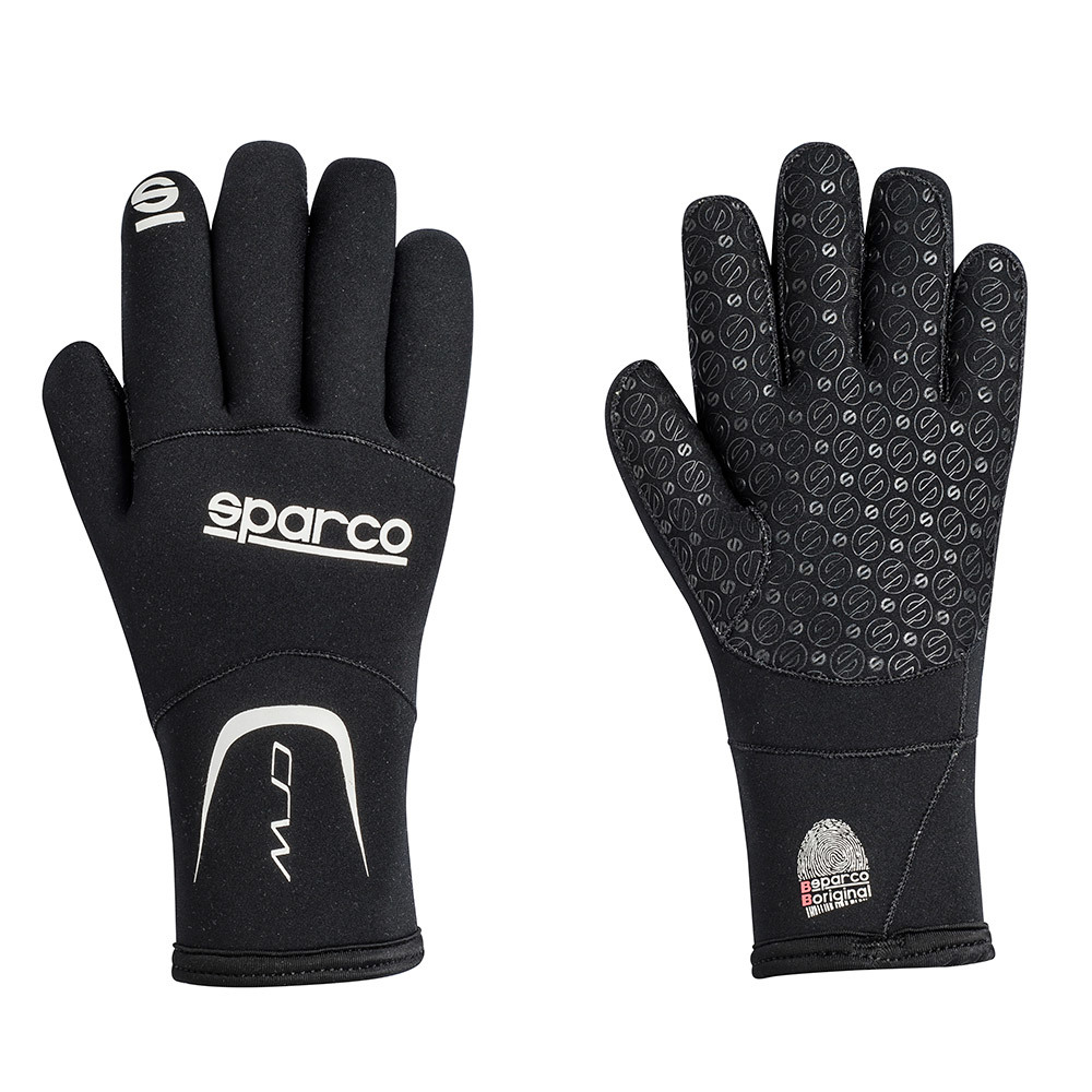 Sparco CRW Black Neoprene Karting Gloves | XL - 00258NR4XL