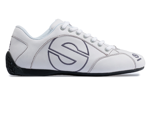 Sparco Esse White Leather Street Performance Driving Shoes EU 42 | US 8 - 00120142BI