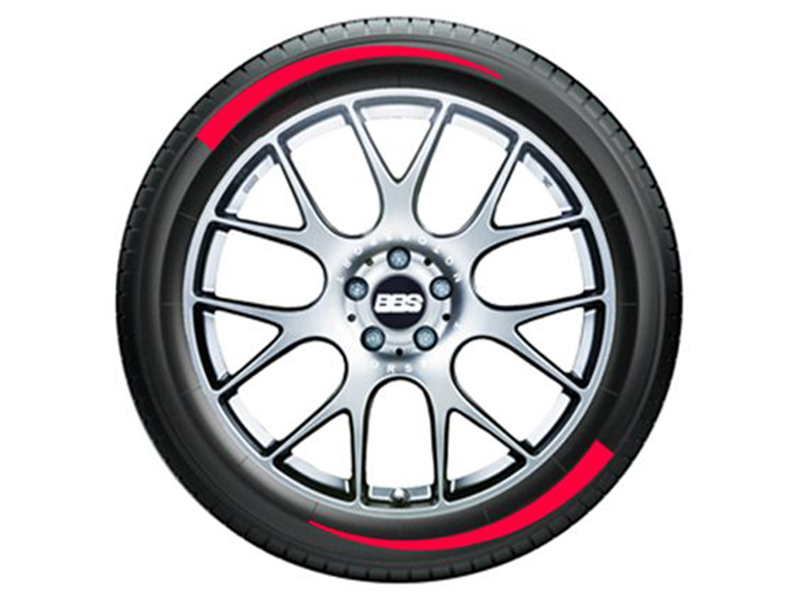 """Tire Stickers Permanent Raised Rubber Lettering 'Flares' - 4 Of Each - 14""""-16"""" - 1.25"""" - Yellow - FLARE-1416-125-4-Y"""