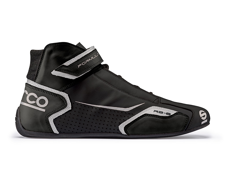 Sparco Black and Silver Formula RB-8 Driving Shoes EU 42 | US 8 - 00123642NRSI