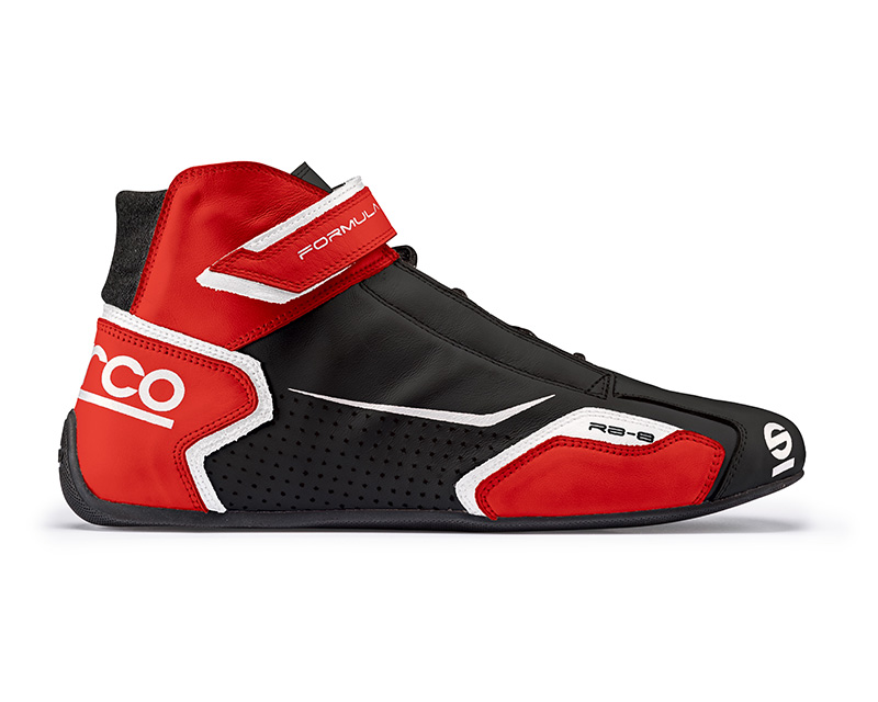 Sparco Black and Red Formula RB-8 Driving Shoes EU 42 | US 8 - 00123642NRRS
