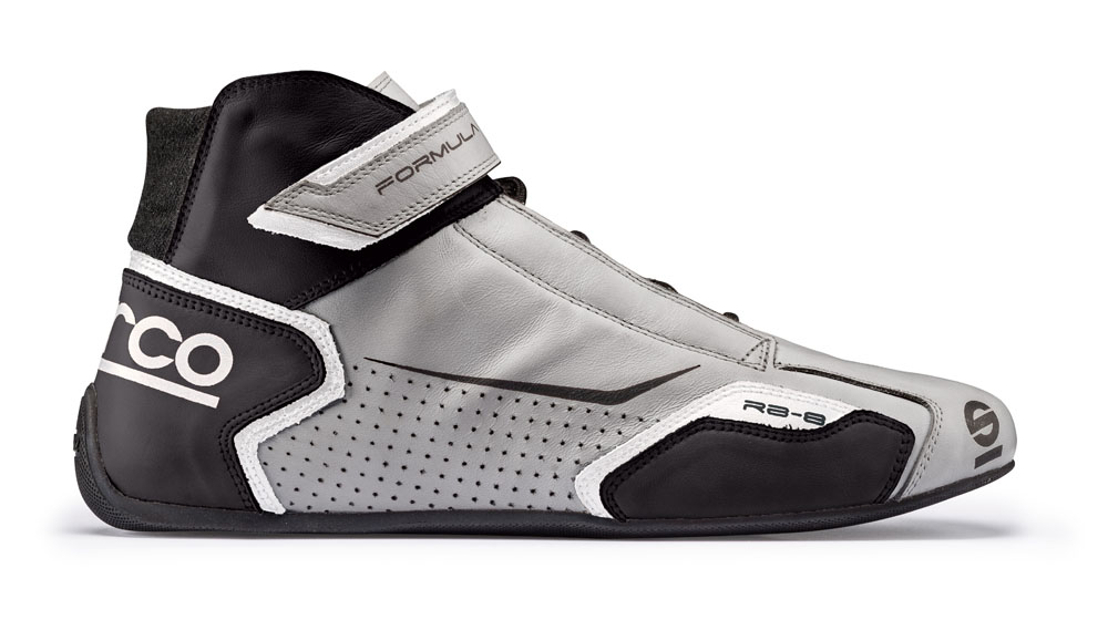 Sparco Silver and Black Formula RB-8 Driving Shoes EU 43 | US 9 - 00123643SINR