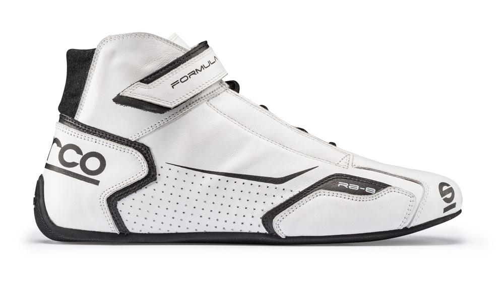 Sparco White and Black Formula RB-8 Driving Shoes EU 42 | US 8.5 - 00123642BINR