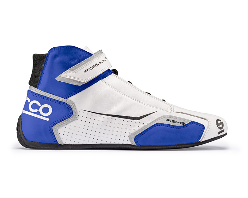 Sparco White and Blue Formula RB-8 Driving Shoes EU 40 | US 6.5 - 00123640BIAZ