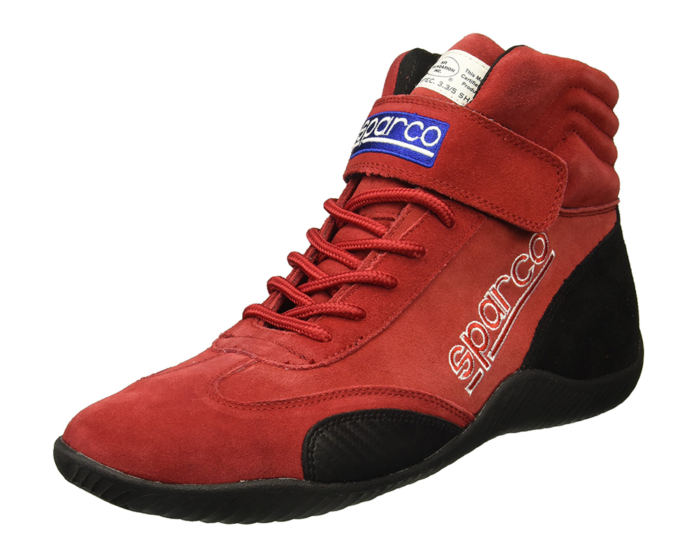 Sparco Red Race Driving Shoes EU 42 | US 8 - 00127008R
