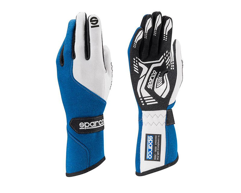 Sparco Force RG-5 Blue and White Racing Gloves | LG - 00130611AZ