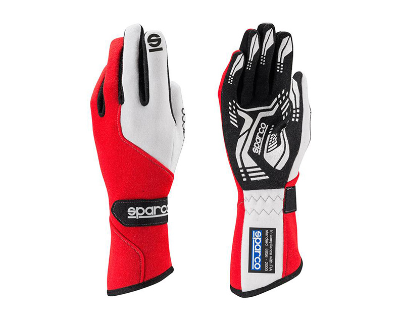 Sparco Force RG-5 Red and White Racing Gloves | LG - 00130611RS
