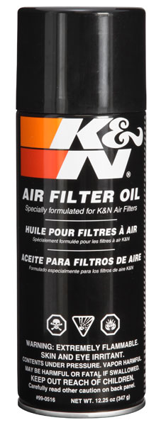 K&N Air Filter Oil - 12.25oz - Aerosol - 99-0516
