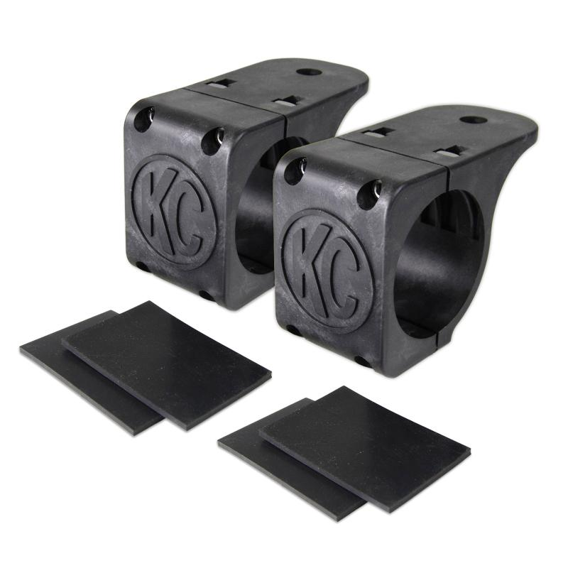 "KC HiLiTES Tube Clamp Mount Bracket Pair for 1.75"" to 2"" Round Light Bars - #73071 - 73071"