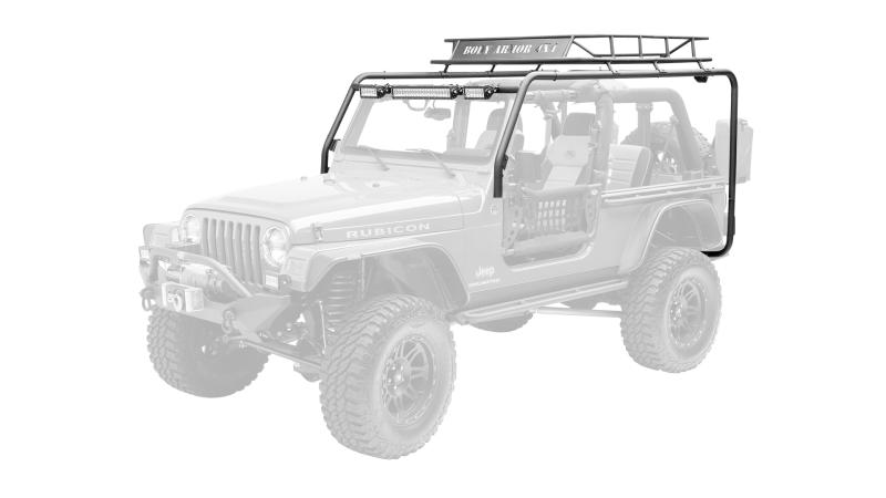 Body Armor 4x4 Roof Rack Box 1 of 2 Jeep Wrangler 97-06 - TJ-6124-1