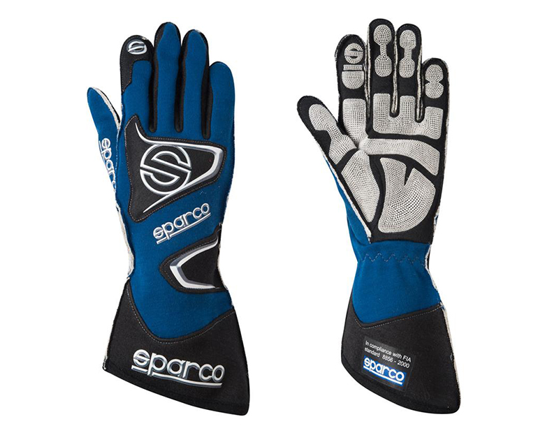 Sparco Tide RG-9 Blue Racing Gloves | LG - 00135511AZ