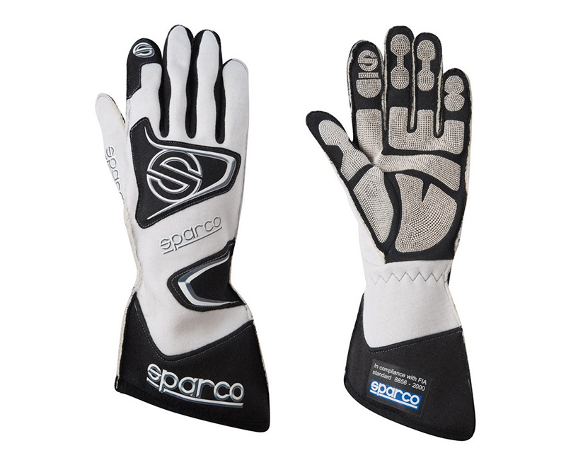 Sparco Tide RG-9 White Racing Gloves | LG - 00135511BI