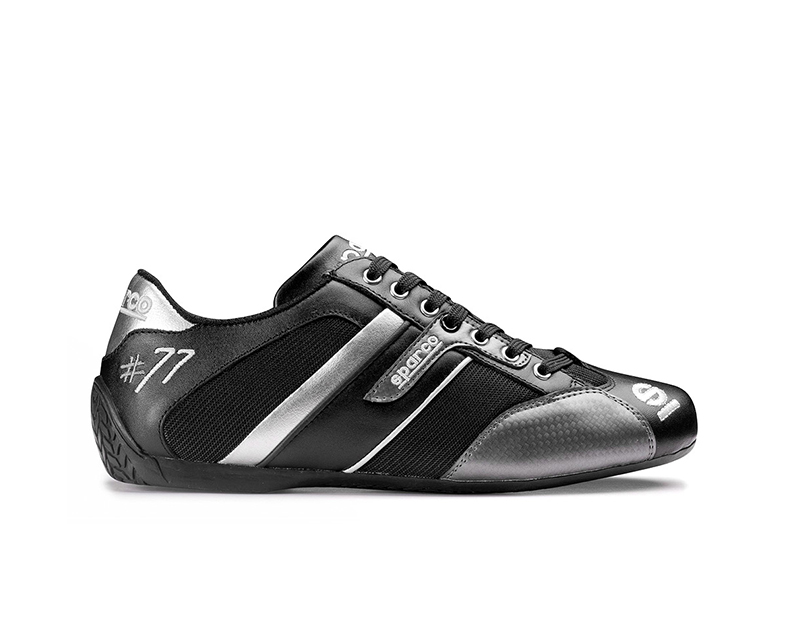 Sparco Time 77 Black and Gray Street Performance Driving Shoes EU 45 | US 11 - 00120445NRGR