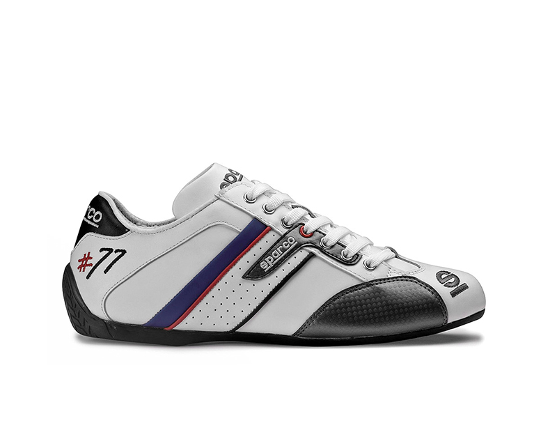 Sparco Time 77 White Leather Street Performance Driving Shoes EU 42 | US 8 - 00120542BI