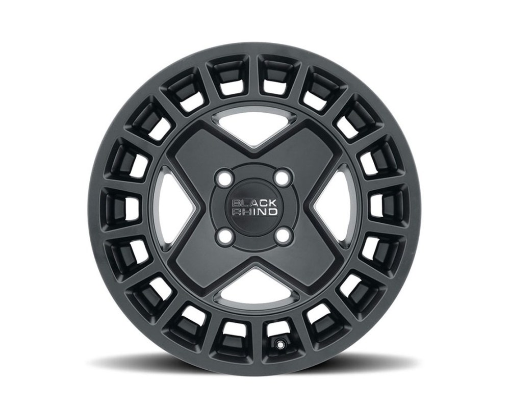 Black Rhino York UTV Matte Black Wheel 15mm x7 4x110 10mm CB79.4 - 1570YRK104110M79