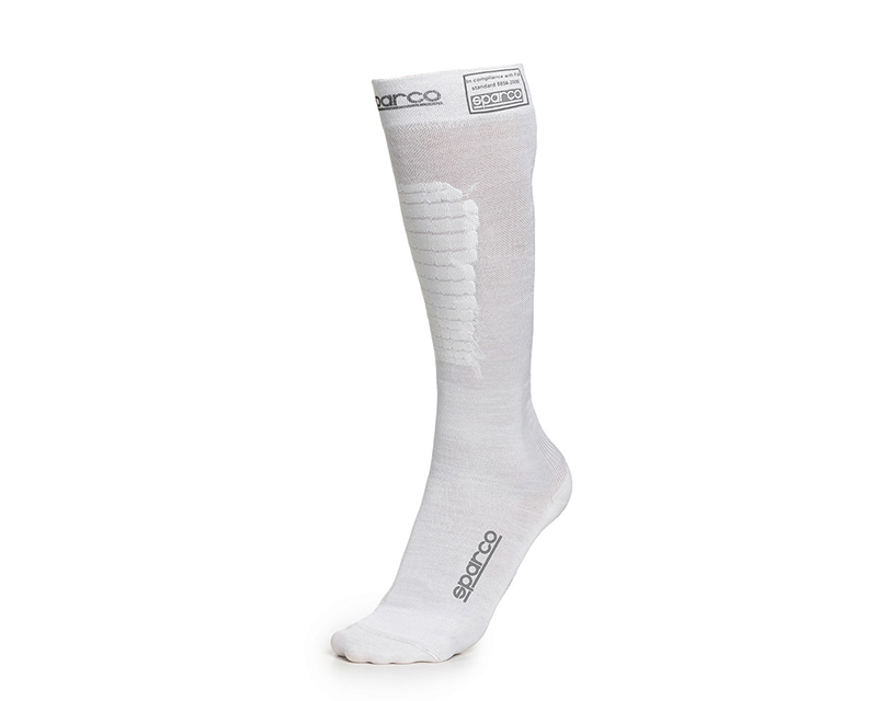 Sparco White RW-9 Compression Racing Socks EU 46/47 | US 12/13.5 - 001512BI1212
